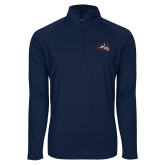 Sport Wick Stretch Navy 1/2 Zip Pullover-Wolfie Head