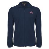 Fleece Full Zip Navy Jacket-Wolfie Head