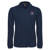 Fleece Full Zip Navy Jacket-Wolfie Head and Stony Brook