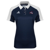 Ladies Adidas Modern Navy Varsity Polo-Wolfie Head