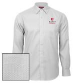 Red House White Diamond Dobby Long Sleeve Shirt-University Mark Vertical