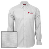 Red House White Diamond Dobby Long Sleeve Shirt-University Mark Stacked