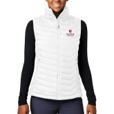 Columbia Lake 22 Ladies White Vest-University Mark Vertical