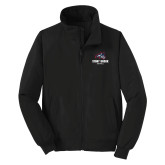 Black Charger Jacket-Wolfie Head Stony Book Softball