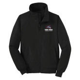 Black Charger Jacket-Wolfie Head Stony Book Swimming and Diving