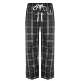 Black/Grey Flannel Pajama Pant-University Mark Vertical