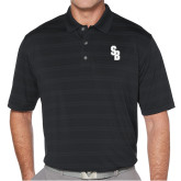Callaway Horizontal Textured Black Polo-Interlocking SB