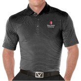 Callaway Core Stripe Black/White Polo-University Mark Vertical