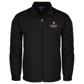 Full Zip Black Wind Jacket-University Mark Vertical