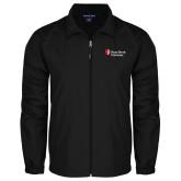 Full Zip Black Wind Jacket-University Mark Stacked