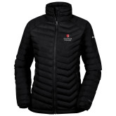 Columbia Powder Lite Ladies Black Jacket-University Mark Vertical