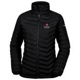 Columbia Lake 22 Ladies Black Jacket-University Mark Vertical