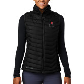 Columbia Lake 22 Ladies Black Vest-University Mark Vertical