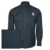 Red House Deep Blue Herringbone Long Sleeve Shirt-Interlocking SB