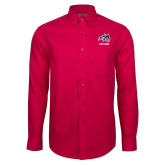 Red House Red Long Sleeve Shirt-Wolfie Head and Stony Brook