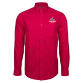 Red House Red Long Sleeve Shirt-Wolfie Head and Stony Brook Athletics