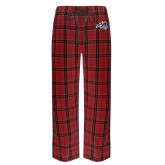 Red/Black Flannel Pajama Pant-Wolfie Head