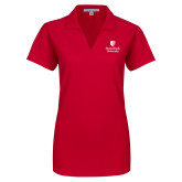 Ladies Red Dry Zone Grid Polo-University Mark Vertical