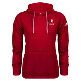 Adidas Climawarm Red Team Issue Hoodie-University Mark Vertical