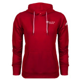 Adidas Climawarm Red Team Issue Hoodie-University Mark Stacked