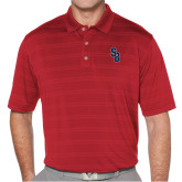 Callaway Horizontal Textured Deep Red Polo-Interlocking SB