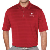 Callaway Horizontal Textured Deep Red Polo-University Mark Vertical