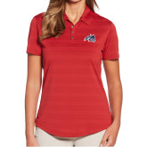 Ladies Callaway Horizontal Textured Deep Red Polo-Wolfie Head