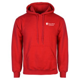 Red Fleece Hoodie-University Mark Stacked