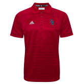 Adidas Climalite Red Jacquard Select Polo-Interlocking SB