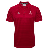 Adidas Climalite Red Jacquard Select Polo-University Mark Vertical