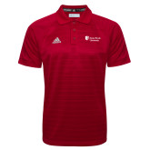 Adidas Climalite Red Jacquard Select Polo-University Mark Stacked