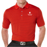 Callaway Core Stripe Red/Black Polo-University Mark Vertical