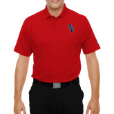 Under Armour Red Performance Polo-Interlocking SB