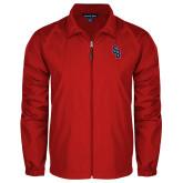 Full Zip Red Wind Jacket-Interlocking SB