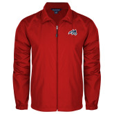 Full Zip Red Wind Jacket-Wolfie Head