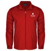 Full Zip Red Wind Jacket-University Mark Vertical