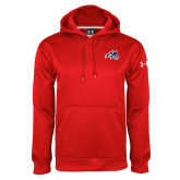 Under Armour Red Performance Sweats Team Hoodie-Wolfie Head