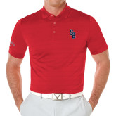 Callaway Opti Vent Red Polo-Interlocking SB
