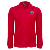 Fleece Full Zip Red Jacket-Wolfie Head and Stony Brook