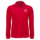 Fleece Full Zip Red Jacket-Wolfie Head Stony Book Cross Country