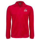 Fleece Full Zip Red Jacket-Wolfie Head Stony Book Swimming and Diving
