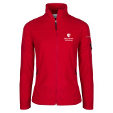 Columbia Ladies Full Zip Red Fleece Jacket-University Mark Vertical