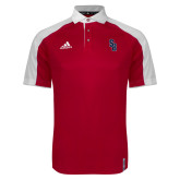 Adidas Modern Red Varsity Polo-Interlocking SB