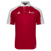 Adidas Modern Red Varsity Polo-University Mark Stacked