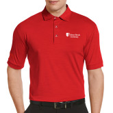 Callaway Tonal Red Polo-University Mark Stacked