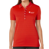 Ladies Callaway Opti Vent Red Polo-University Mark Stacked