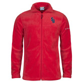 Columbia Full Zip Red Fleece Jacket-Interlocking SB
