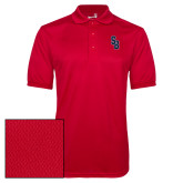 Red Dry Mesh Polo-Interlocking SB