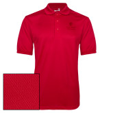 Red Dry Mesh Polo-University Mark Vertical