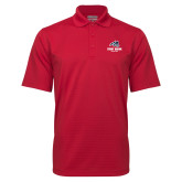 Red Mini Stripe Polo-Wolfie Head and Stony Brook Athletics